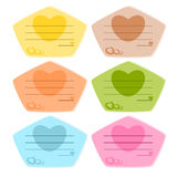 Colorful paper note Stock Photography