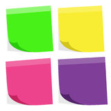 Colorful paper note Stock Images