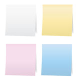 Colorful paper note stickers. Royalty Free Stock Photos