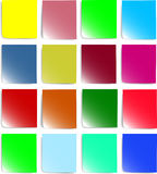 Colorful paper for notes. Easy to edit vector image Stock Photo