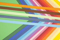 Colorful paper notes. With ribbons Royalty Free Stock Image