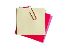 Colorful paper notes with clip Royalty Free Stock Photo