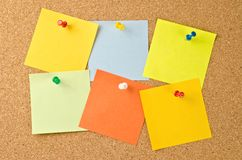 Colorful paper notes Royalty Free Stock Image