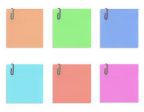 Colorful paper notes isolated on white background Stock Photos
