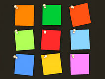 Colorful paper notes Stock Images