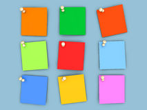 Colorful paper notes Royalty Free Stock Photography