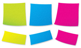 Colorful paper notes Stock Photos