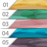 Colorful paper numbered banners Stock Images