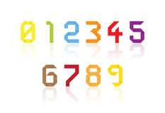 Colorful paper origami numbers. Vector illustration Royalty Free Stock Photo
