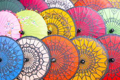 Colorful paper parasols,paper umbrella Stock Photography