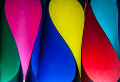 Colorful paper pattern in unique elliptical shapes Royalty Free Stock Photography