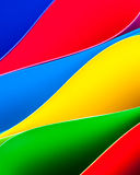 Colorful paper pattern in elliptical shapes Stock Images