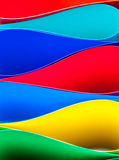 Colorful paper pattern in unique elliptical shapes Royalty Free Stock Images