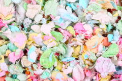Colorful paper pet litter Royalty Free Stock Photos