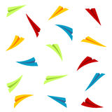 Colorful paper planes Stock Image