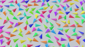 Colorful Paper Planes on a White Surface. Huge array of paper planes in various bright colors. This image is a 3d illustration Stock Images