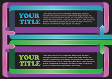 Colorful Paper ribbon folding Vector Layout Royalty Free Stock Photos