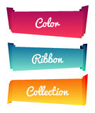 Colorful paper roll long collections design on white background, vector illustration. Color ribbons Royalty Free Stock Photos