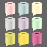 Colorful Paper Roll Set Stock Photos