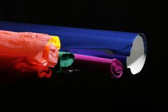 Colorful paper rolls Royalty Free Stock Image
