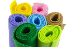 Colorful paper rolls Royalty Free Stock Images