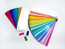 Colorful paper samples stock photography
