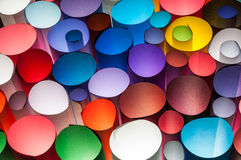 Colorful paper. Colorful scrolls paper on brightnes light Royalty Free Stock Photo