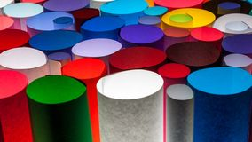 Colorful paper. Colorful scrolls paper on brightnes light Stock Photos