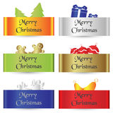 Colorful paper shadow simple merry christmas cards eps10 Stock Photos