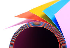 Colorful paper sheet Stock Photo