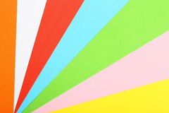 Colorful paper sheets Royalty Free Stock Images