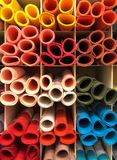 Colorful paper on shelf, stationary. And art Royalty Free Stock Photo