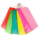 Colorful paper shopping bags group Stock Photo