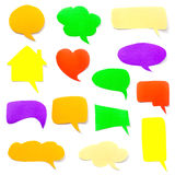 colorful paper speech bubbles Stock Photography