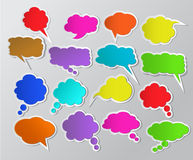 colorful paper speech bubbles Royalty Free Stock Photo