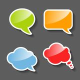 Colorful Paper Speech Bubbles Set Stock Photography