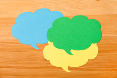 Colorful paper speech bubbles Royalty Free Stock Photography