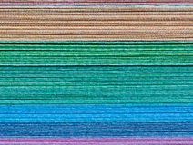 Colorful paper stack Royalty Free Stock Photos