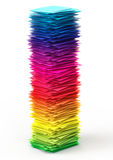 Colorful paper stack Royalty Free Stock Images