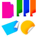Colorful paper sticker. Vector set of colorful paper Stock Image