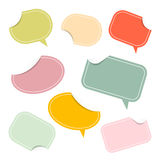 Colorful Paper Stickers - Labels. In Retro Color Design Royalty Free Stock Image