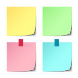 Colorful paper stickers on white background Royalty Free Stock Photo