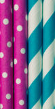 Colorful paper straw background Royalty Free Stock Images
