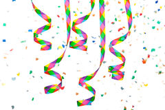 Colorful paper streamer Royalty Free Stock Images