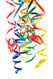 Colorful paper streamer Stock Photos