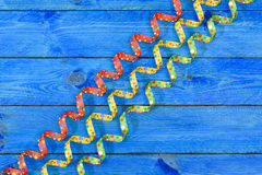 Colorful paper streamer at carnival party Stock Photography
