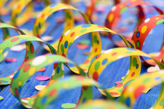 Colorful paper streamer at carnival party Royalty Free Stock Image