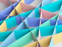 Colorful paper stripes pattern. Abstract 3d. Colorful paper stripes pattern. Abstract digital background, 3d render illustration stock illustration