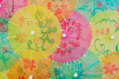 Colorful Paper Sunshades stock image