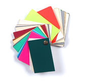 Colorful paper swatches Stock Images